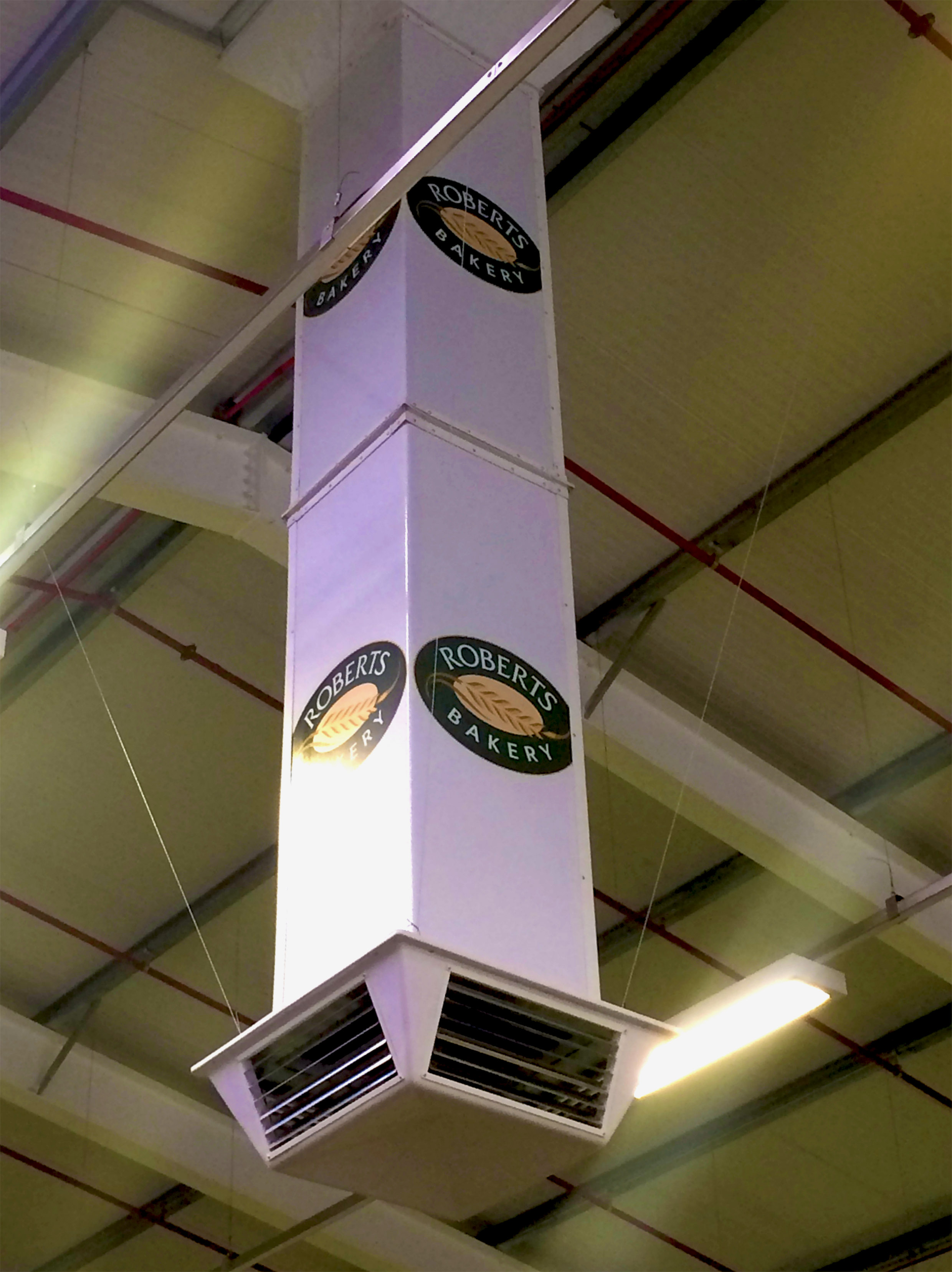 Innovative ductwork system installation roberts bakery for New and innovative heating and cooling system design